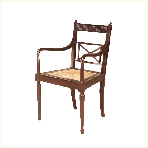 Bikaner Colonial Armchair,British ,Colonial ,Teak ,Dining ,Chair  ,Reproduction