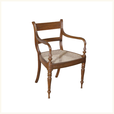 Mussoorie Colonial Armchair,British ,Colonial ,Burma ,Teak ,Dining ,Chair  ,Reproduction